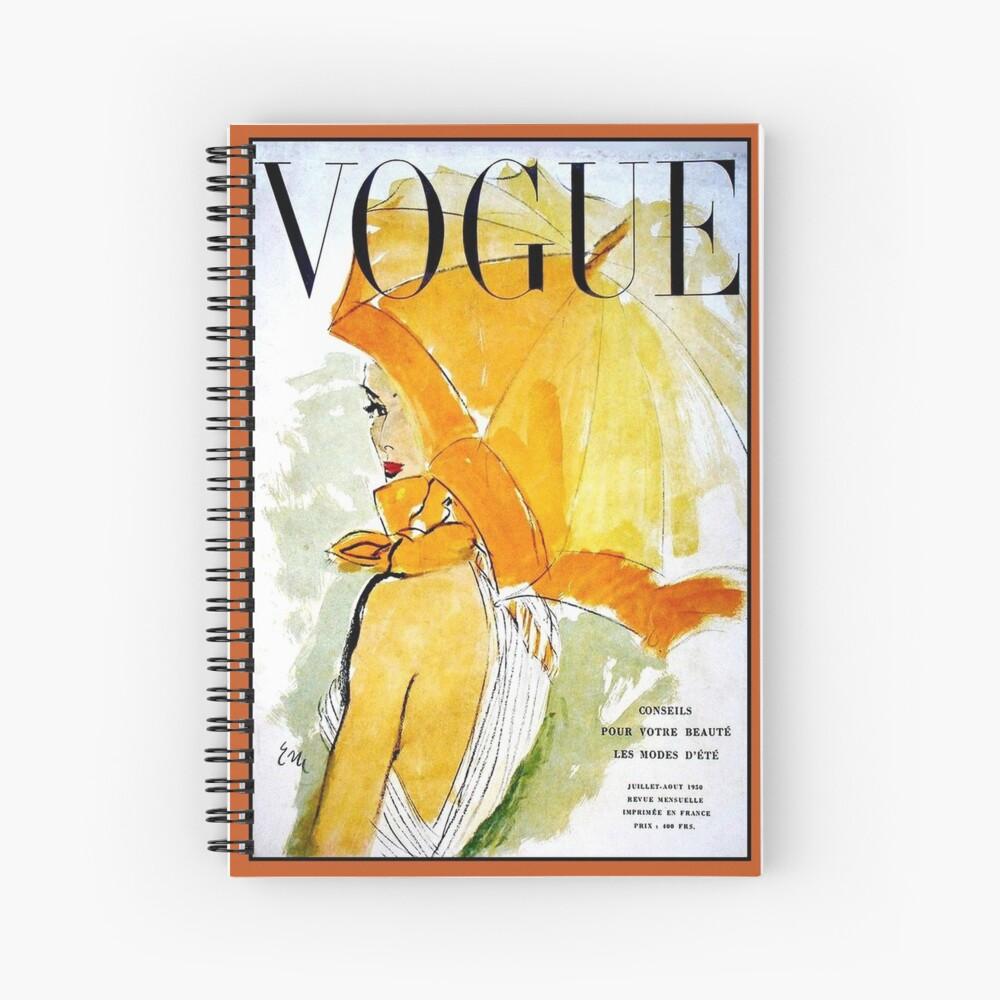 VOGUE : Vintage 1950 Magazine Advertising Print Spiral Notebook
