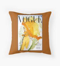 VOGUE : Vintage 1950 Magazine Advertising Print Floor Pillow
