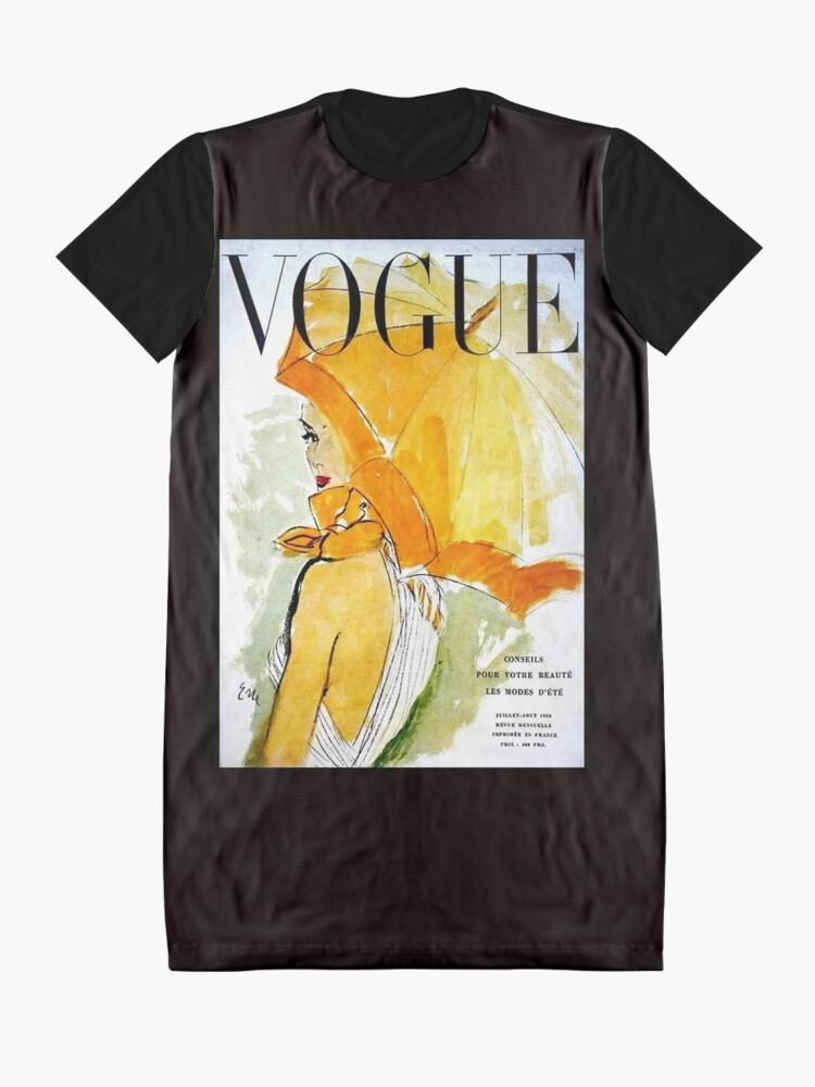 Alternative Ansicht von VOGUE: Jahrgang 1950 Werbung Werbung Print T-Shirt Kleid