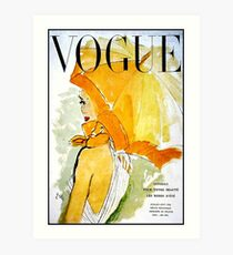 VOGUE : Vintage 1950 Magazine Advertising Print Art Print
