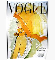 VOGUE : Vintage 1950 Magazine Advertising Print Poster