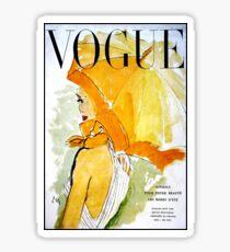 Pegatina VOGUE: Vintage 1950 Revista Publicidad Imprimir