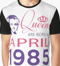 It's My Birthday 33. Made In April 1985. 1985 Gift Ideas. Graphic T-Shirt