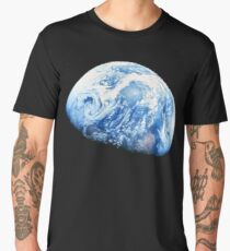 EARTH, PLANET, SPACE, Blue planet, Earthrise, Apollo 8, 1968 Men's Premium T-Shirt