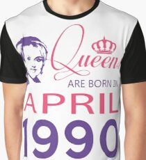 It's My Birthday 28. Made In April 1990. 1990 Gift Ideas. Graphic T-Shirt