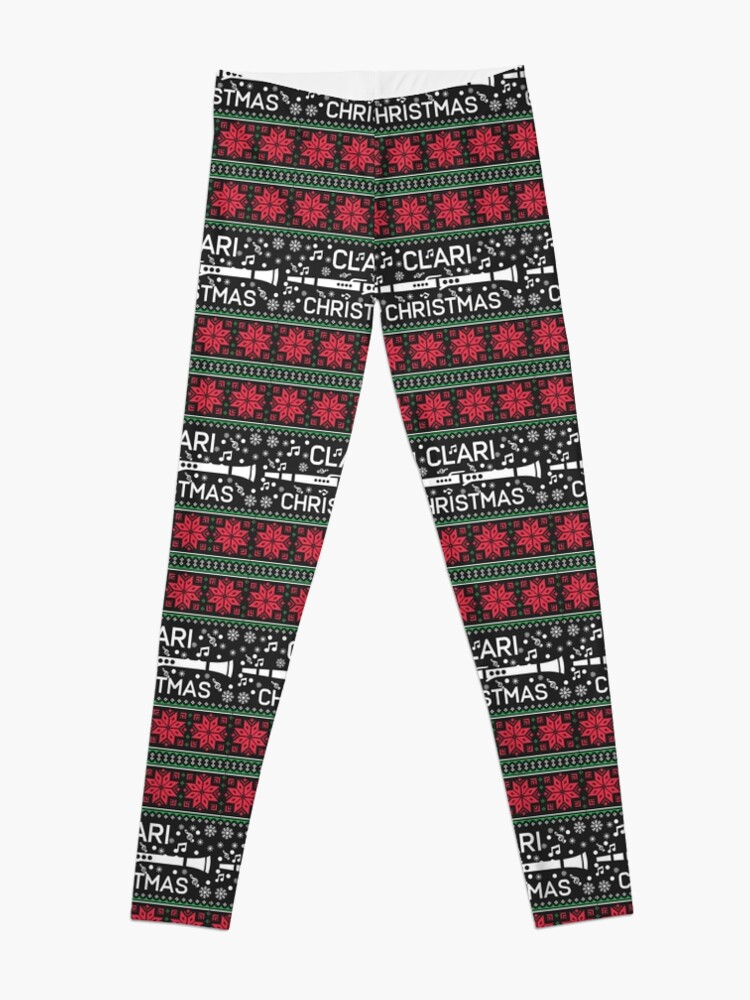 Band Ugly Christmas Sweaters.Clarinet Marching Band Ugly Christmas Sweaters Leggings