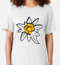 Edelweiss flower  Slim Fit T-Shirt
