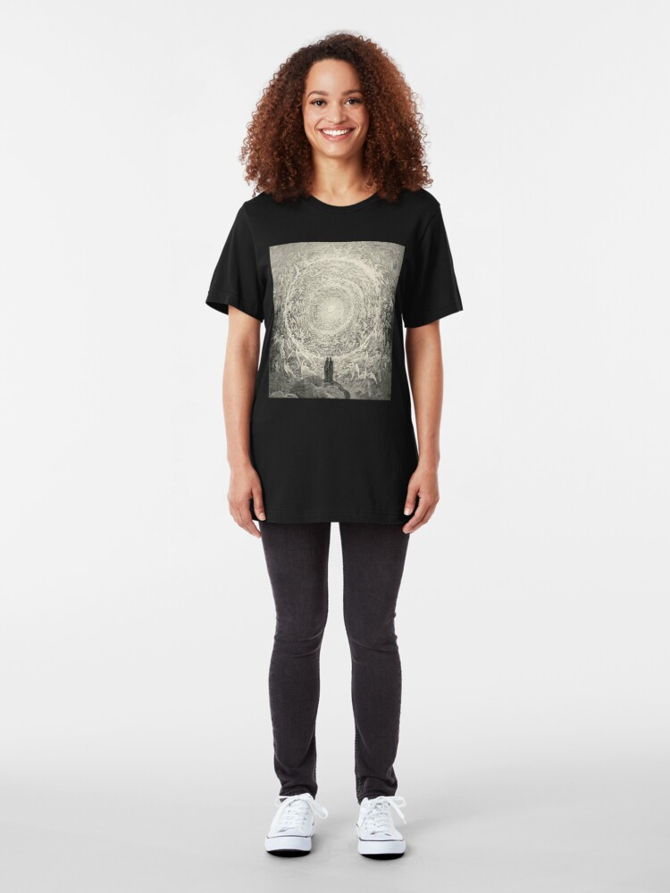 Alternate view of Dante, Heaven, Heavenly, The Divine Comedy, Gustave Doré, Highest, Heaven. Slim Fit T-Shirt