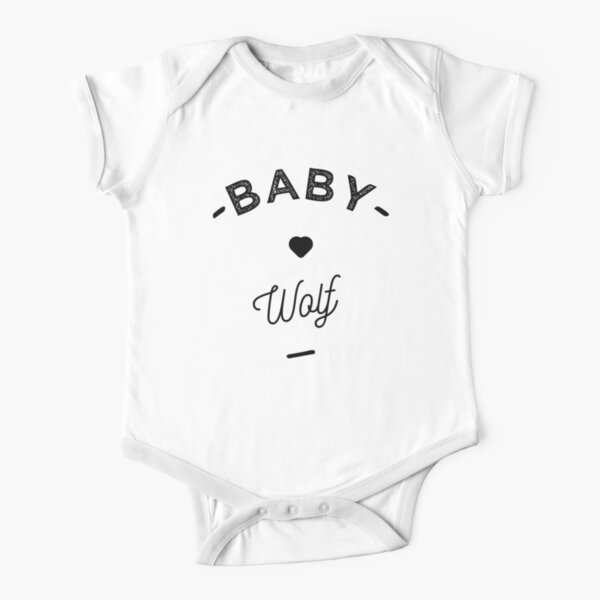 Baby wolf- Short Sleeve Baby One-Piece