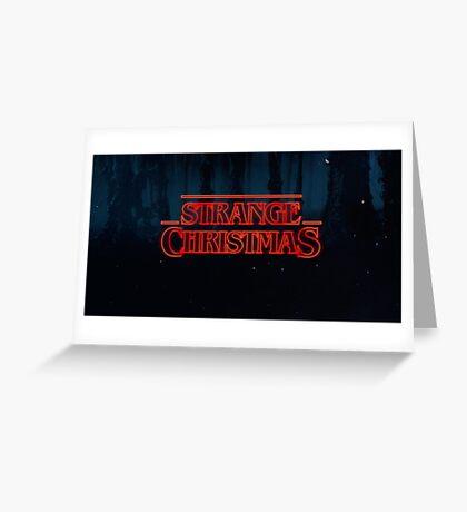Tarjeta de Navidad de cosas extrañas, meme tarjetas de felicitación Tarjeta de felicitación