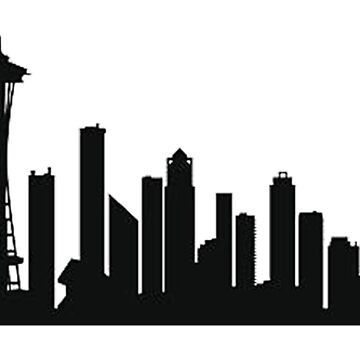 Seattle skyline by thatstickerguy