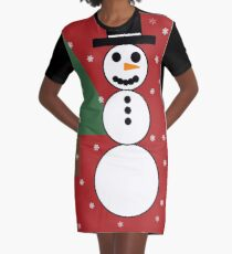 Snowman Wonderland Graphic T-Shirt Dress