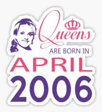 It's My Birthday 12. Made In April 2006. 2006 Gift Ideas. Sticker