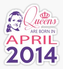 It's My Birthday 4. Made In April 2014. 2014 Gift Ideas. Sticker