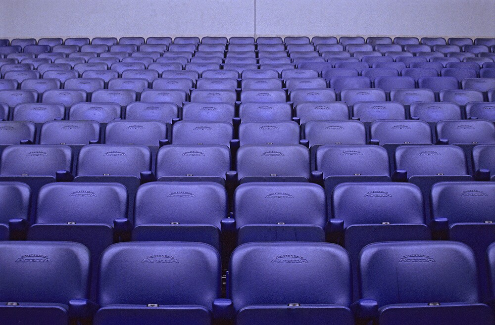 Empty Stadium Seating, Ajax Amsterdam Arena  by Petr Svarc