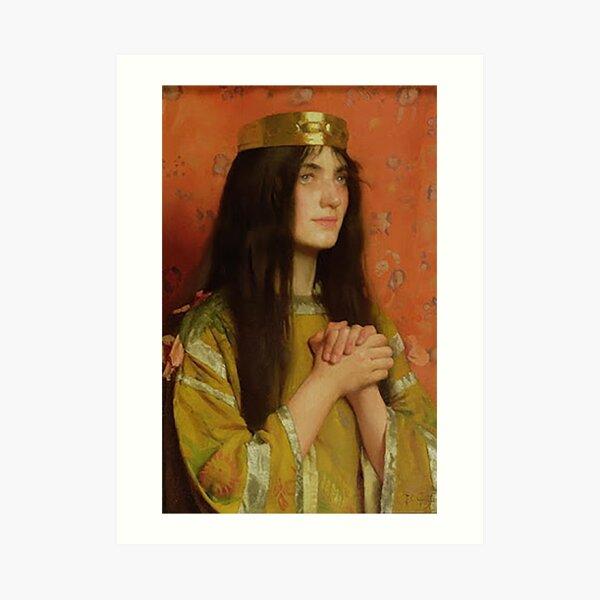 La Reine Clothilde - Thomas Cooper Gotch Art Print