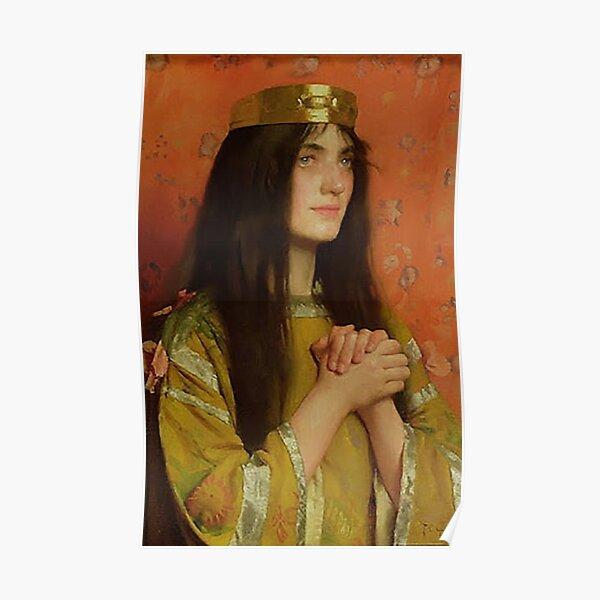 La Reine Clothilde - Thomas Cooper Gotch Poster