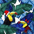 Holidays Tropical Toucan In The Snow by oursunnycdays