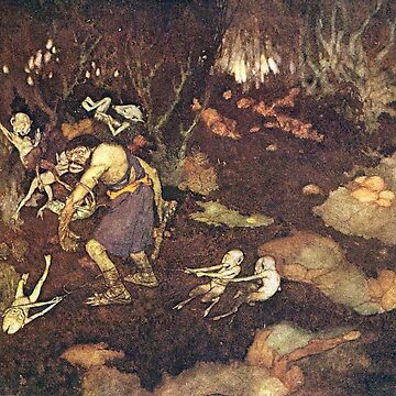 Caliban - The Tempest - Edmund Dulac by forgottenbeauty