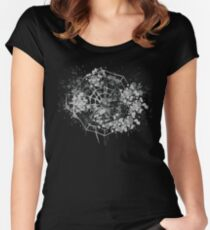Grungy Spider web Halloween Women's Fitted Scoop T-Shirt
