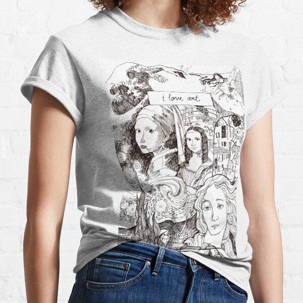 Famous Paintings Art History - I love art Classic T-Shirt