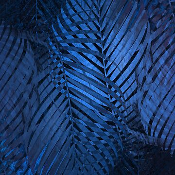 TROPICAL NEBULAS BLUE LEAVES PATTERN by aCVPia