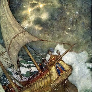 Shipwreck - The Tempest - Edmund Dulac by forgottenbeauty