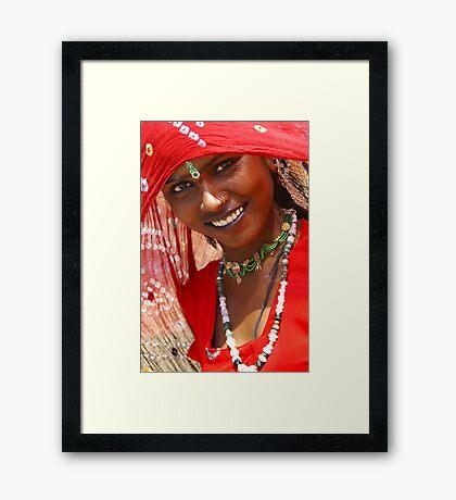 A Gypsy Girl from Rajasthan Framed Print