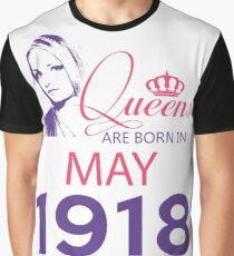 It's My Birthday 100. Made In May 1918. 1918 Gift Ideas. Graphic T-Shirt
