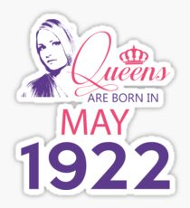 It's My Birthday 96. Made In May 1922. 1922 Gift Ideas. Sticker