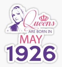 It's My Birthday 92. Made In May 1926. 1926 Gift Ideas. Sticker