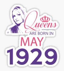 It's My Birthday 89. Made In May 1929. 1929 Gift Ideas. Sticker