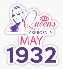 It's My Birthday 86. Made In May 1932. 1932 Gift Ideas. Sticker