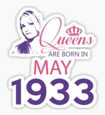 It's My Birthday 85. Made In May 1933. 1933 Gift Ideas. Sticker