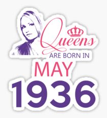It's My Birthday 82. Made In May 1936. 1936 Gift Ideas. Sticker