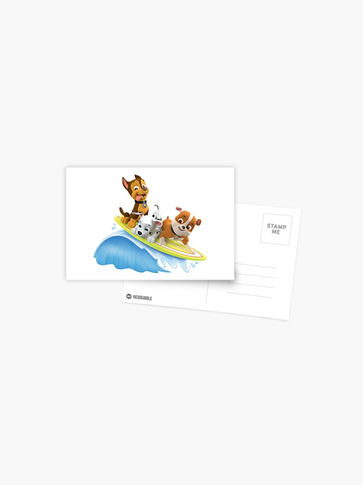 PAW Patrol Marshall, Rubble and Chase Summer Surfboard   Postcard