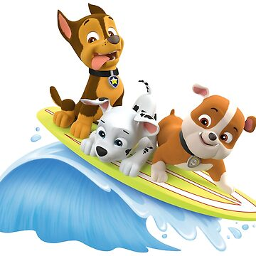 PAW Patrol Marshall, Rubble and Chase Summer Surfboard by docubazar7