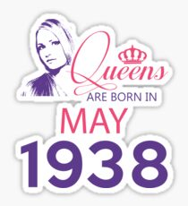 It's My Birthday 80. Made In May 1938. 1938 Gift Ideas. Sticker