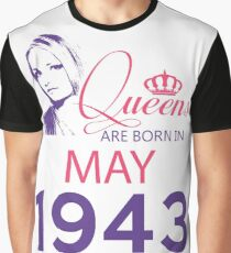 It's My Birthday 75. Made In May 1943. 1943 Gift Ideas. Graphic T-Shirt