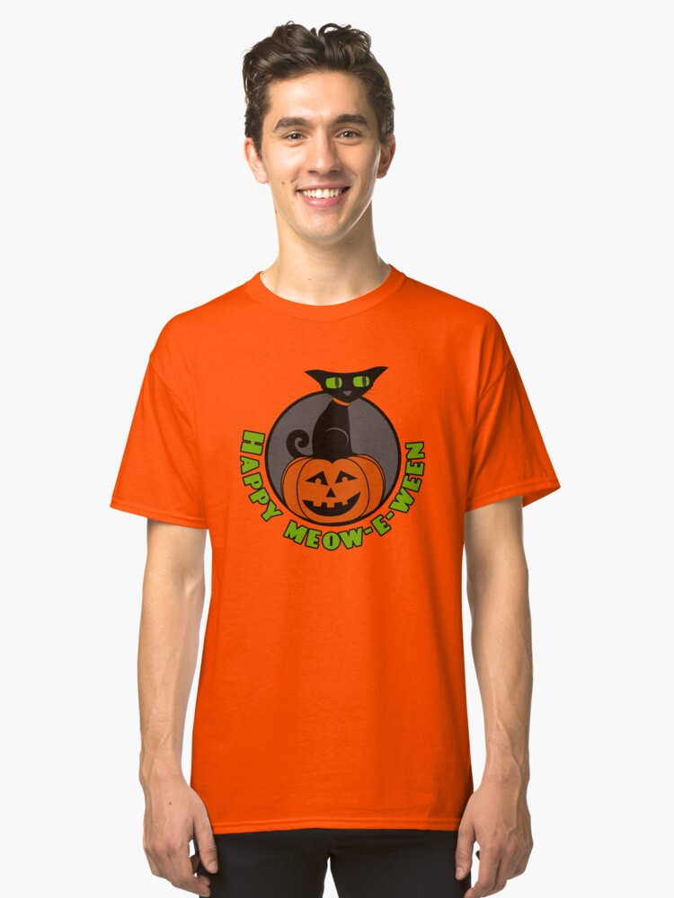 Alternate view of Midnight - Happy Meow-e-ween Classic T-Shirt