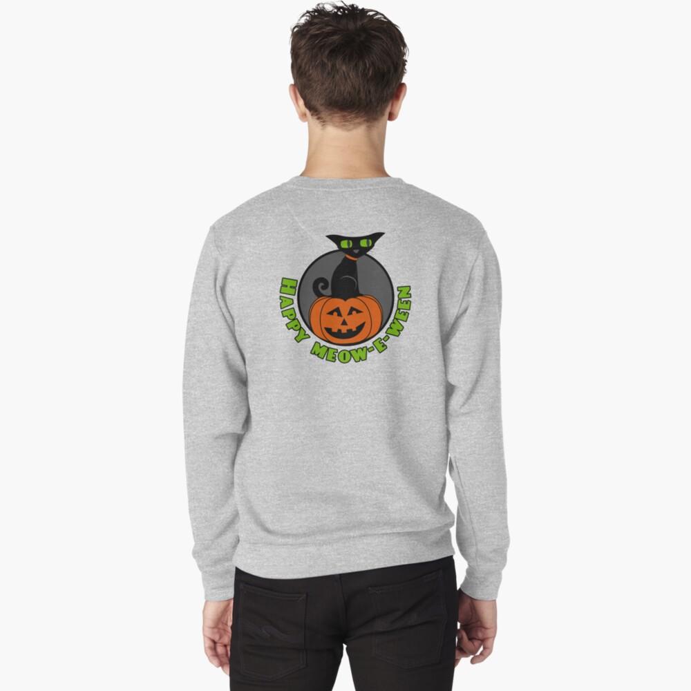 Midnight - Happy Meow-e-ween Pullover Sweatshirt