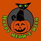 Midnight - Happy Meow-e-ween by Charles Davenport
