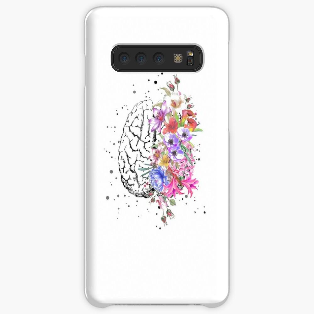 Brain anatomy,  watercolor Brain, flowers brain, brain with Flowers Case & Skin for Samsung Galaxy