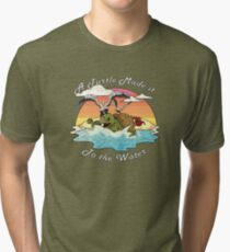 A Turtle Made it to the Water! Tri-blend T-Shirt