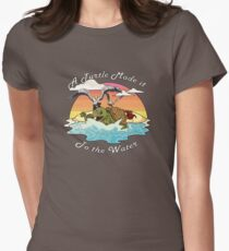 A Turtle Made it to the Water! Women's Fitted T-Shirt