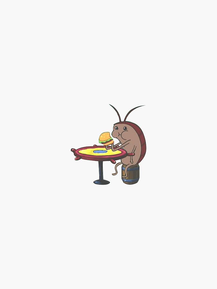 Cockroach eating krabby patty  by jorgebrandom