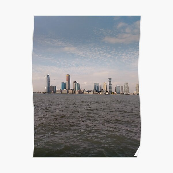 #skyline, #city, #water, #buildings, #urban, #sky, #architecture, #cityscape, #building, #skyscraper, #newyork, #downtown, #manhattan, #blue, #panorama, #river, #view, #usa, #skyscrapers Poster