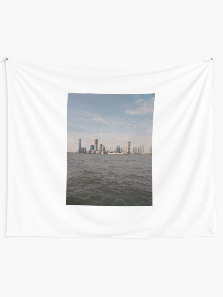 Alternate view of #skyline, #city, #water, #buildings, #urban, #sky, #architecture, #cityscape, #building, #skyscraper, #newyork, #downtown, #manhattan, #blue, #panorama, #river, #view, #usa, #skyscrapers Tapestry