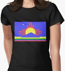 Roswell, New Mexico flag Women's Fitted T-Shirt