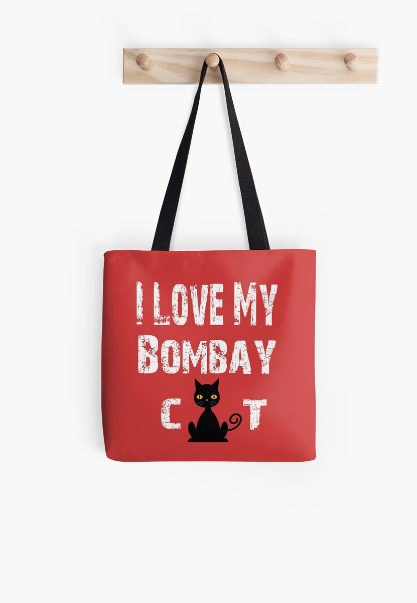 'Cute I Love My Bombay Cat T-Shirt ' Tote Bag by Dogvills